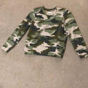 Madewell Camo Sweatshirt